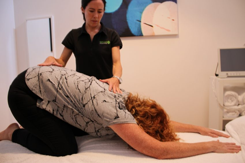 Prayer stretch at Esthesis Physiotherapy Largs Bay